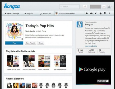 songza pc