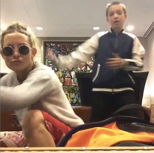 ケイト・ハドソンが息子と「Trap Queen」を踊る動画が話題